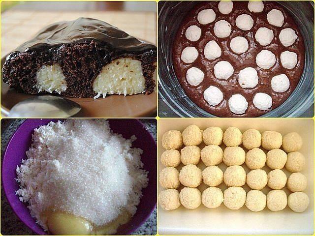 Пирог с творожными шариками рецепт с