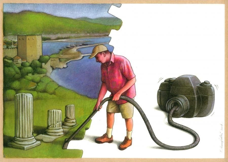 Абсурд человеческой цивилизации в рисунках Павла Качински