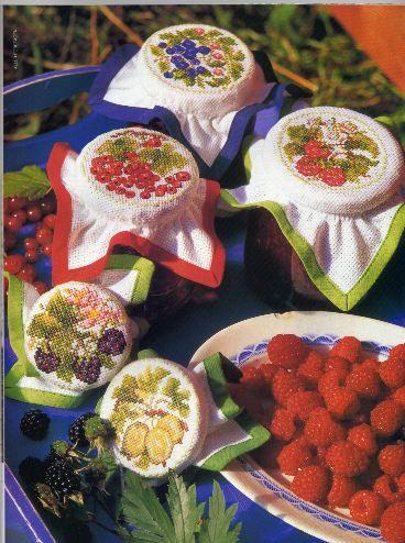 Схемы для вышивки — украшаем наши баночки с вареньем