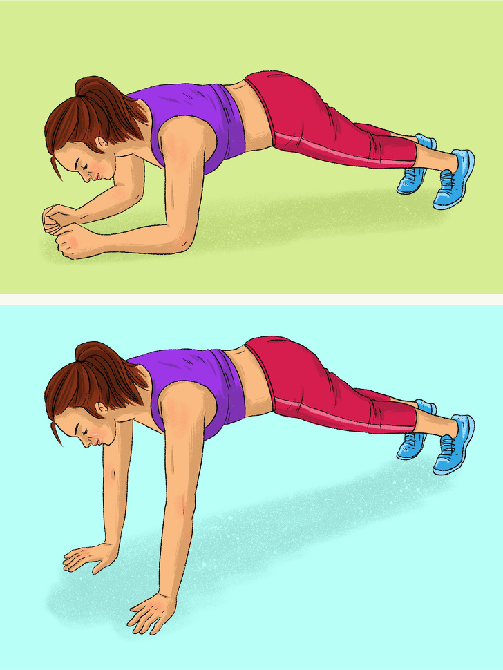 12 видов планки для всех групп мышц, которые заменят абонемент в спортзал