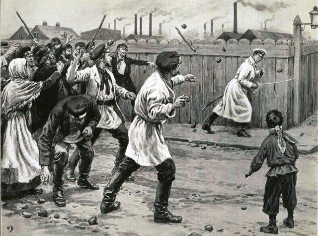 Первая русская революция и голод в России