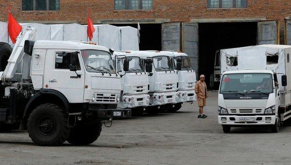 Россия намерена отправить еще гумконвой на Донбасс