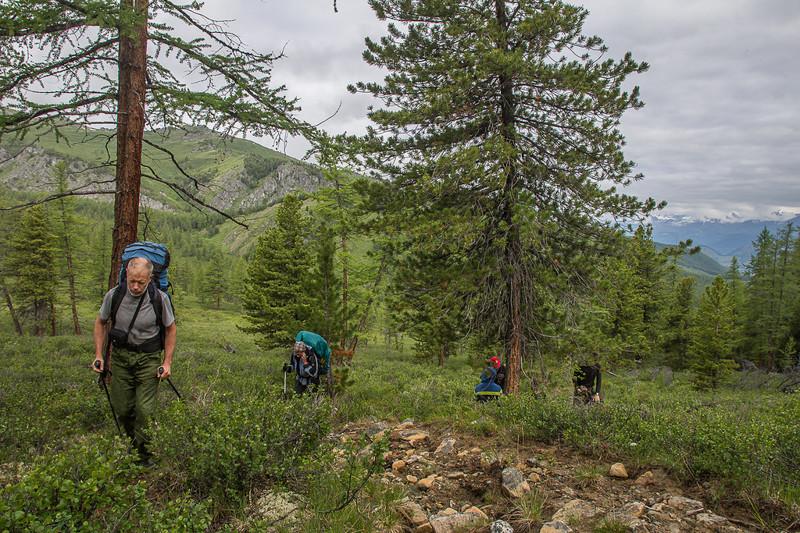 Подъем на перевал Судобай алтай, путешествия, россия, укок, фото