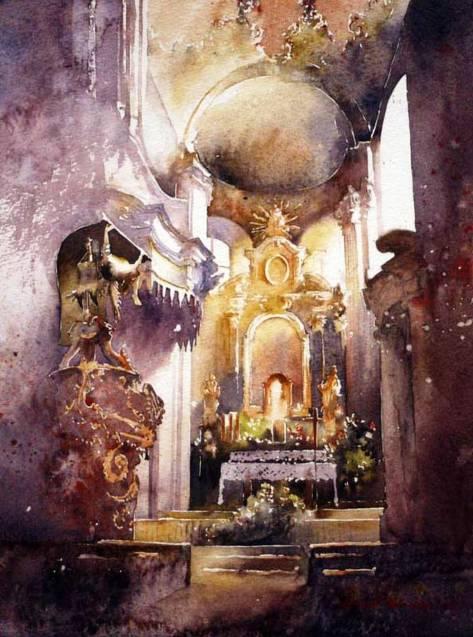Очаровательные и завораживающие акварели польского художника Michalа Orlowski