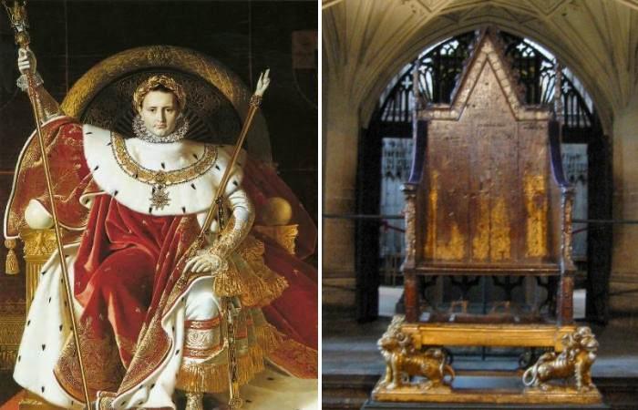 Наполеон Бонапарт и престол Карла Великого.