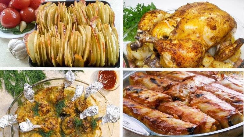 Что приготовить на ужин? 4 Простых рецепта для вкусного ужина видео, еда, рецепт, ужин