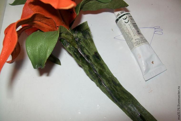 Лилия из кожи мастер класс с пошаговым фото