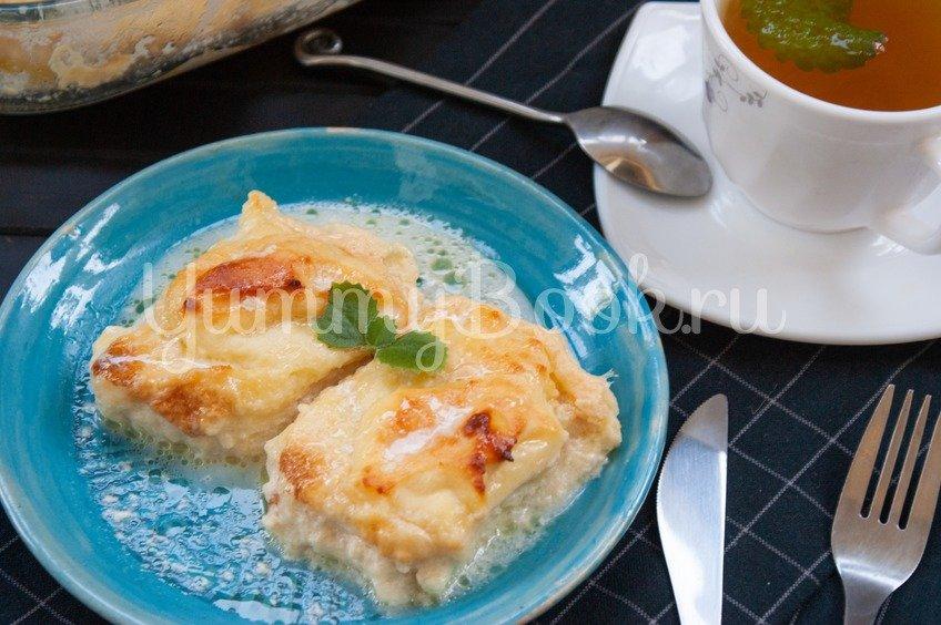 Сырники, запеченные в молочном соусе