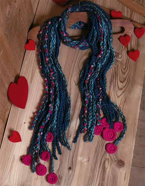шарф из шнуров