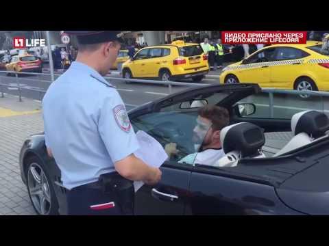 Мажор на кабриолете унизивший полицейского объявлен в розыск