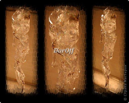 Мастер-класс Поделка изделие Новый год Рождество Моделирование конструирование СОСУЛЬКИИИИИИИИИИИИ   - Мастер-класс Бутылки пластиковые Клей фото 24