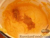 Фото приготовления рецепта: Сладкий тыквенный крем-суп с корицей - шаг №8