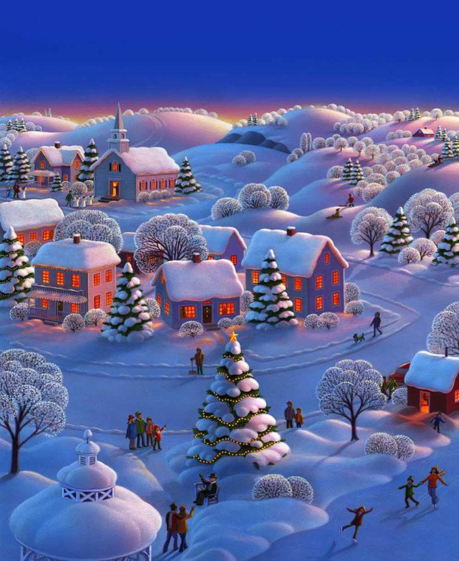 Настоящая зимняя сказка! Иллюстрации Robin Moline