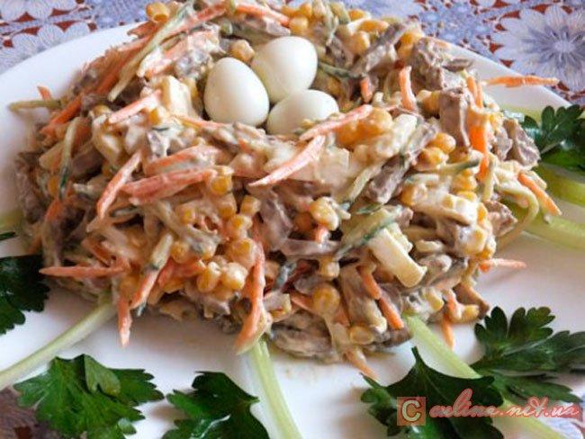 Салат гнездо кукушки с фото | красивый, вкусный