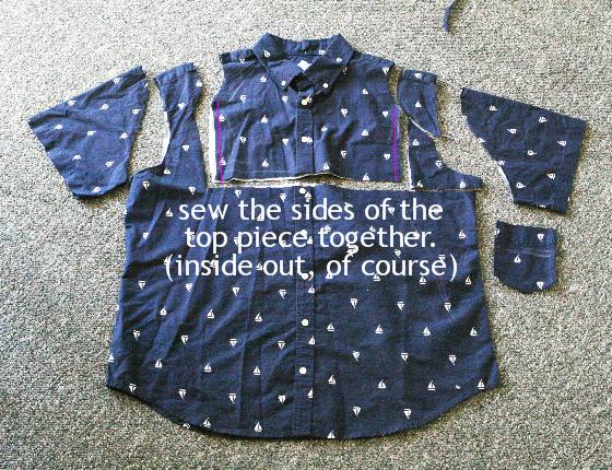 Как сшить платье для девочки из рубашки мужской