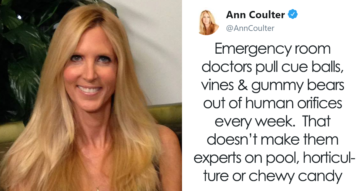 "Ann Coulter Tries To Make Fun Of ""Anti-Gun"" Doctors, Gets Brutally Shut Down"