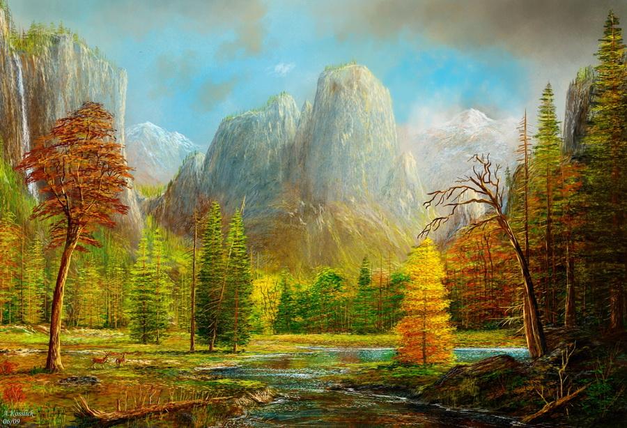 Художник рисует осень… Завораживающие пейзажи Andre Kosslick
