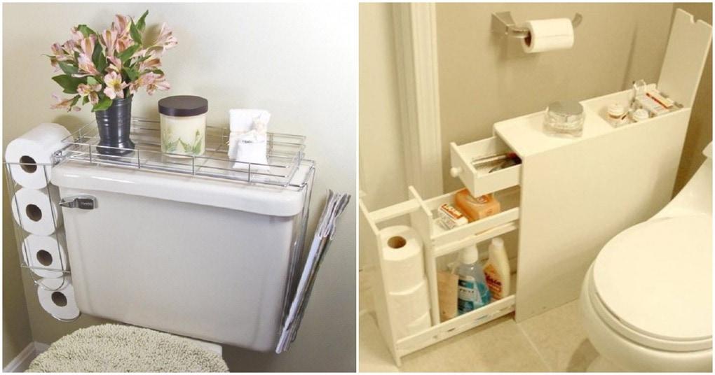 И в маленькой ванной найдётся свободное место. Вот несколько любопытных идей
