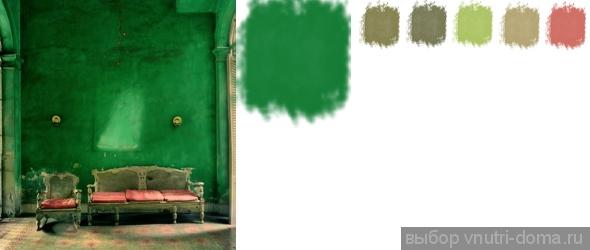 Зеленые палитры