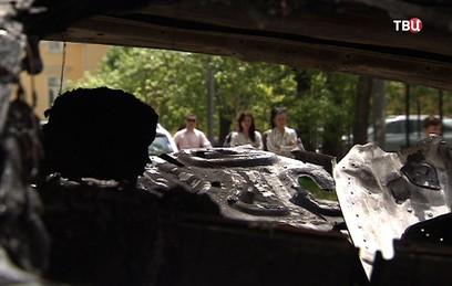 В центре Москвы сгорели две элитные иномарки
