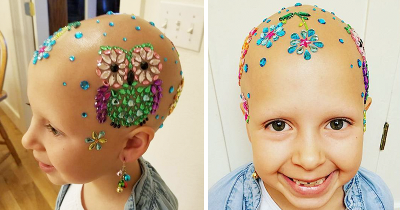 7-летняя девочка удивила многих на празднике, придя на него с красиво украшенной головой