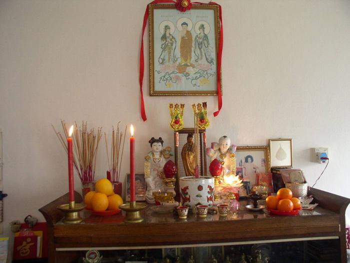В китайской традиции важен культ предков.