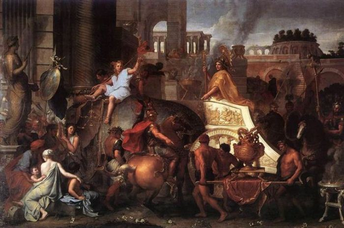 Александр вступает в Вавилон. Лебрен, ок. 1664