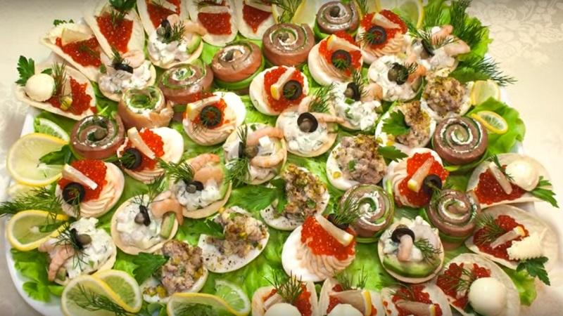 Закуски с морепродуктами, рецепты