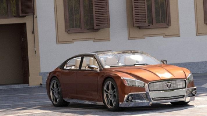 Представительский седан Volga 2020 Concept: воскрешение легенды СССР