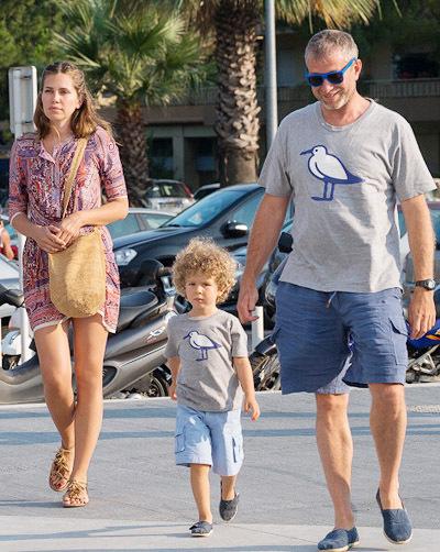 Дарья Жукова и Роман Абрамович с сыном Аароном Александром