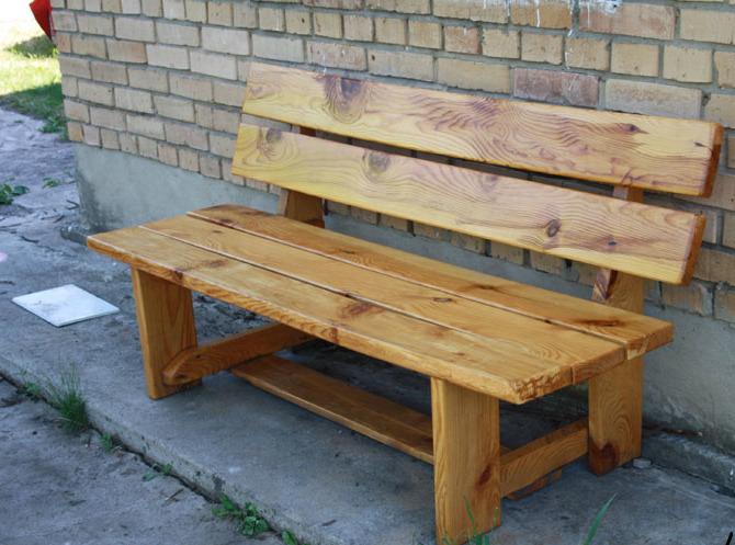 Как сделать лавку деревянную лавку
