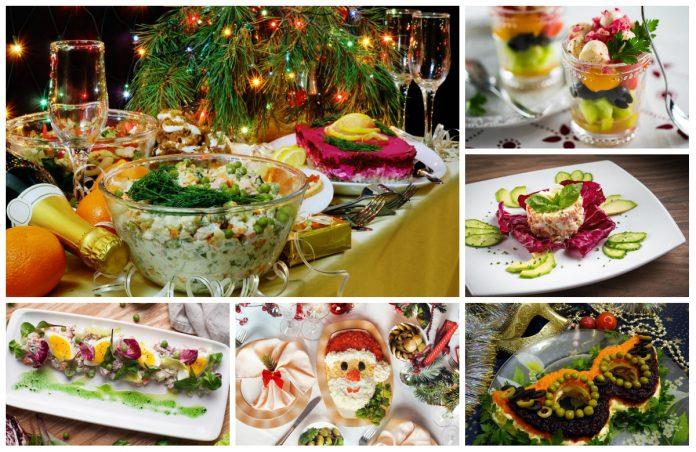 Салаты для нового года, новые рецепты с фото