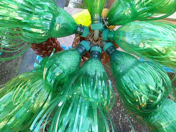 Листья для пальмы из пластиковых бутылок пошаговая инструкция с 143