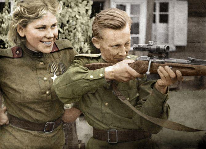 девушки, снайперы, война