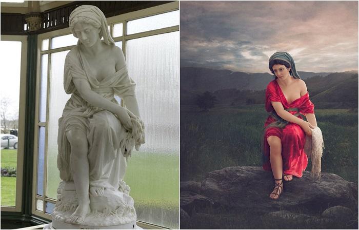 Художница дарит новые обличья старинным мраморным статуям с помощью цвета
