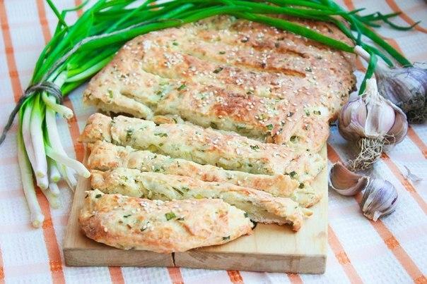Луково - сырный хлеб