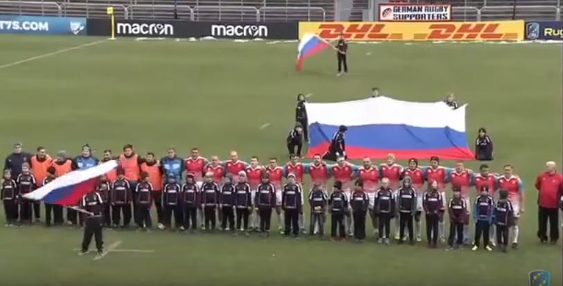Российские регбисты разгромили немцев после исполнения гимна СССР