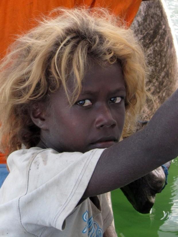 В Меланезии живут удивительные чернокожие блондины