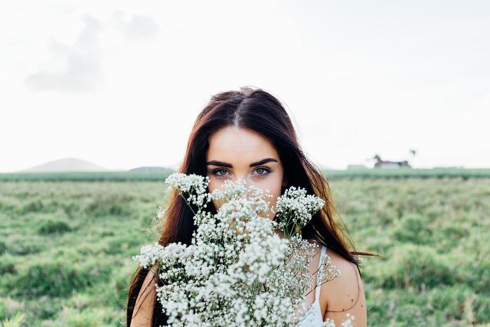 Молодая Женщина, Букет Цветов, Женщина, Молодой, Букет