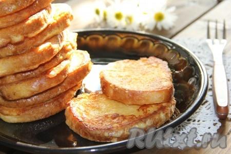 Гренки белого хлеба рецепт с фото