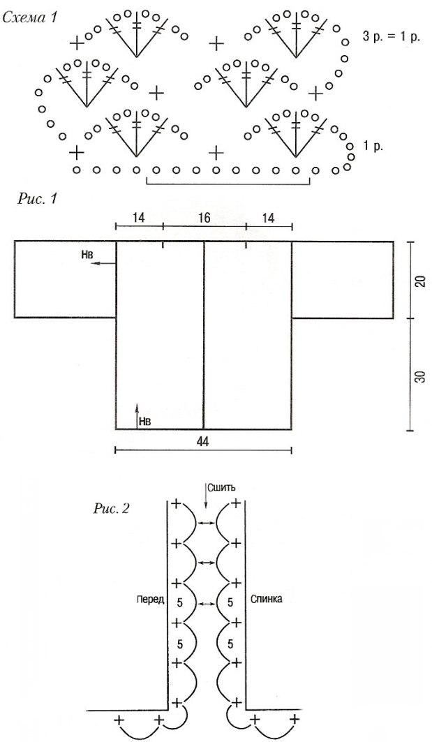 Вязание кардигана крючком 50 размера
