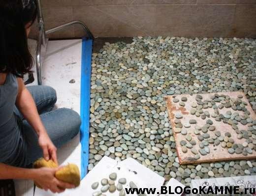 Плитка из морских камней своими руками 71