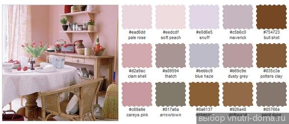 Сочетание цветов в розовом интерьере