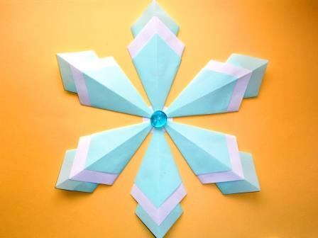 Оригами Снежинка из бумаги Н…