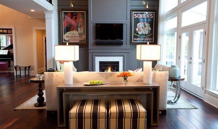 Шикарный вариант создать интерьер гостиной в кремово-шоколадных тонах, что создаст невероятное и легкое настроение.