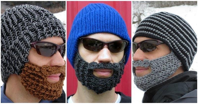 Бородатые шапки. Креативная идея для вязания