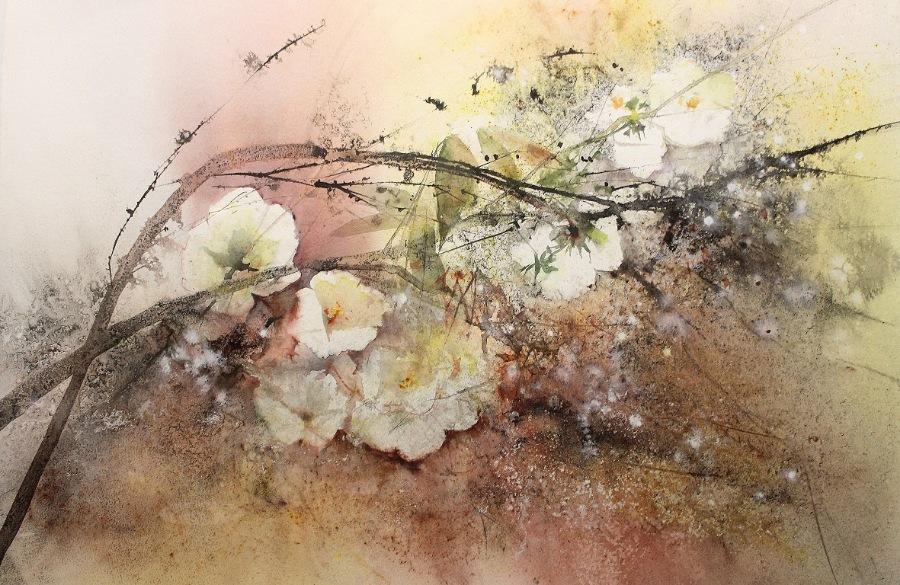 Этот запах весны... Акварель Reine-Marie Pinchon