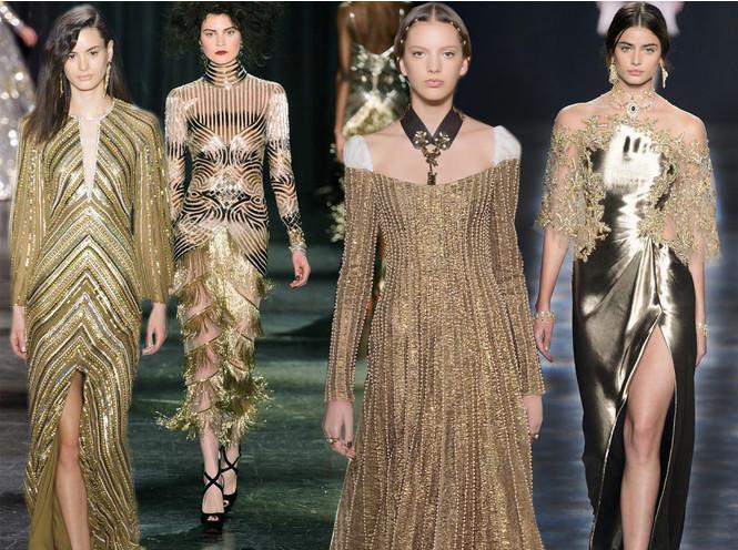 Новогодний образ: топ-15 золотых платьев для главного вечера
