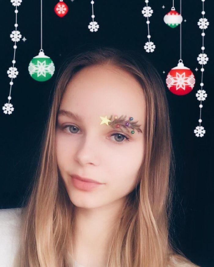 Новогоднее украшение бровей: главный тренд 2017 года