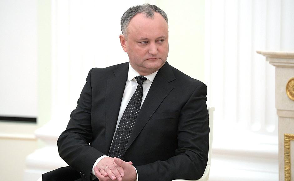 Игорь Додон предложил Владимиру Путину обсудить «досадный случай дипломатического демарша»